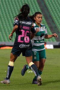 Guerreras vs Águilas, Wendy Morales, Marianne Martínez