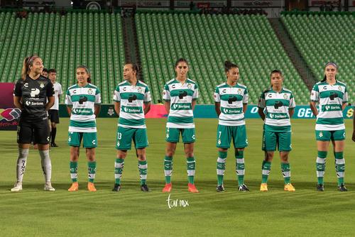 jugadoras Santos, Isela Ojeda, Karyme Martínez, Karla Martín