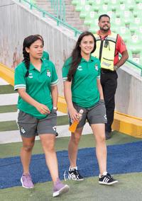 jugadoras, Aidé Pérez, Paola Calderón