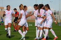 festejo de gol de Cinthya Peraza, Cinthya Peraza, Nancy Quiñ
