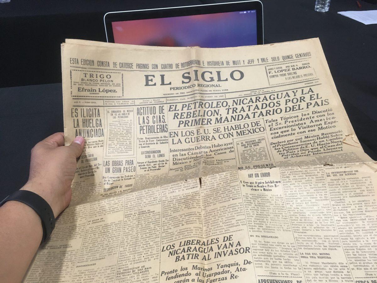 El Siglo de Torreón, ejemplar de 1927