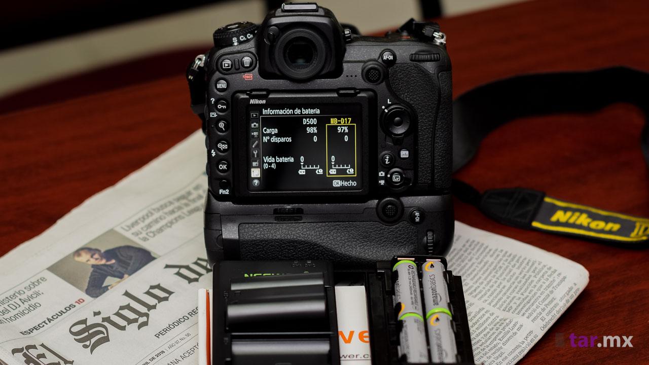 Pila adicional barata para Nikon D500