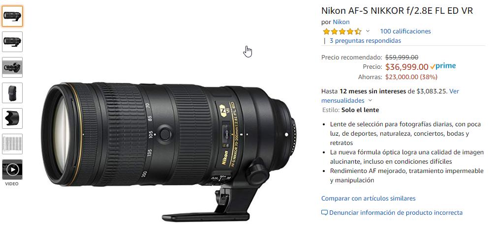 Nikon 70-200 f/2.8E FL ED
