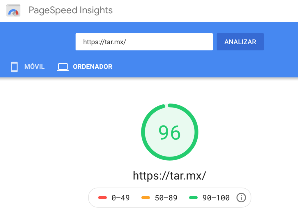 PageSpeed Insights de Google