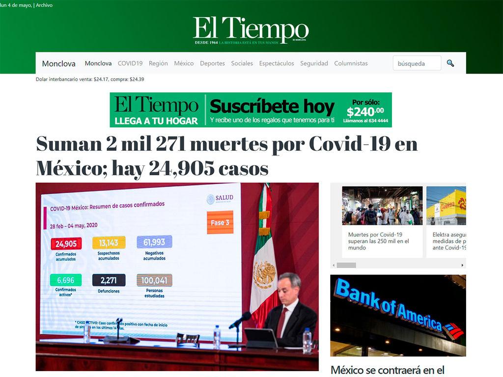 Periódico El Tiempo de Monclova