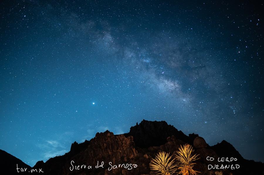 Vía láctea vista desde la Sierra del Sarnoso